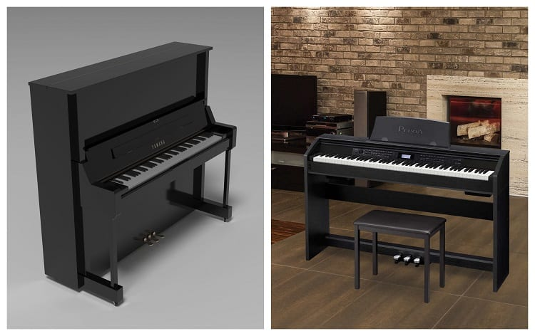Two Different Pianos