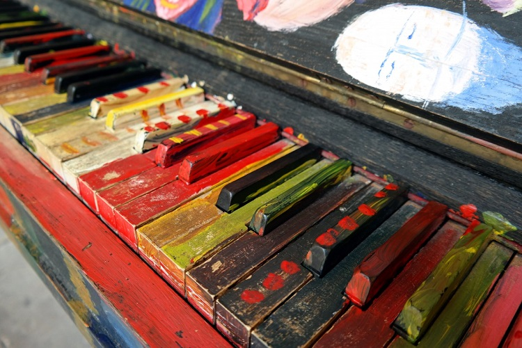 Painted Piano Keys