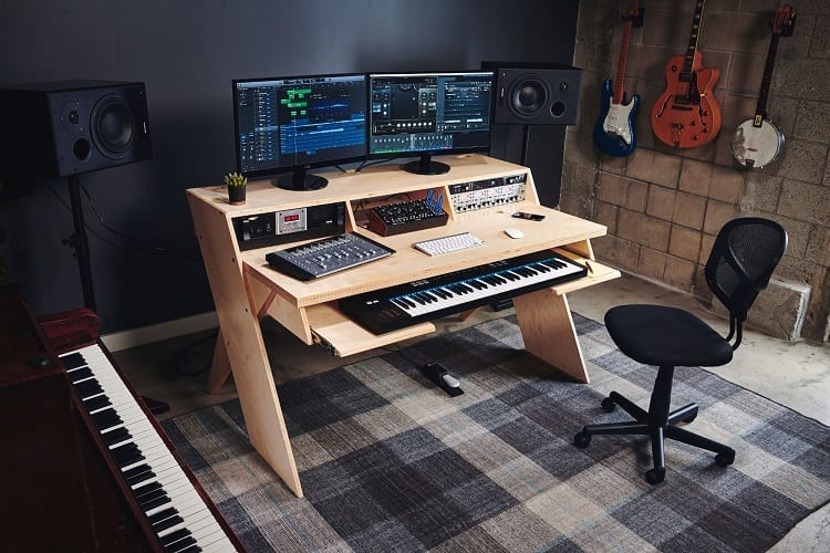 Desk In Music Studio