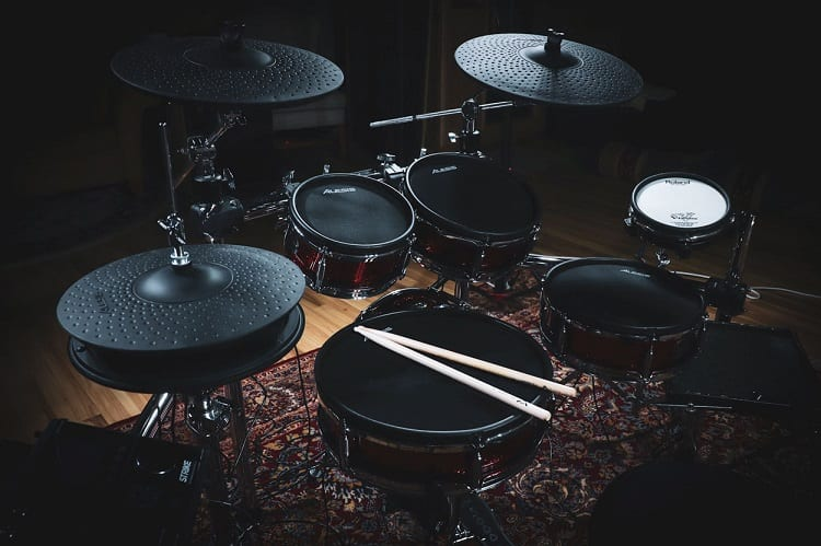Black Electronic Drum Set