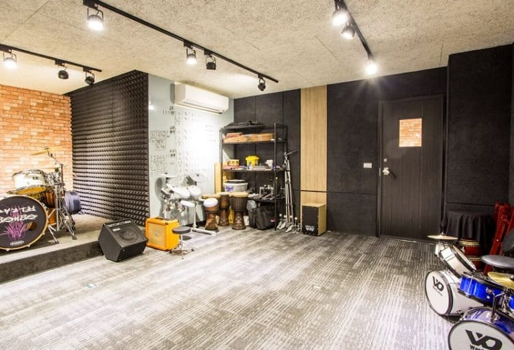 Soundproofed Music Studio