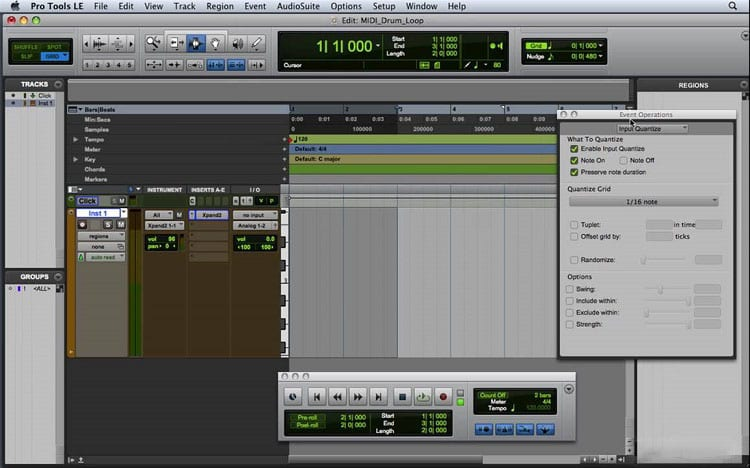 Making A Drum Loop In Pro Tools