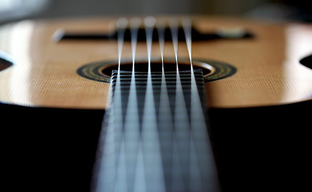 open c tuning on a six string guitar